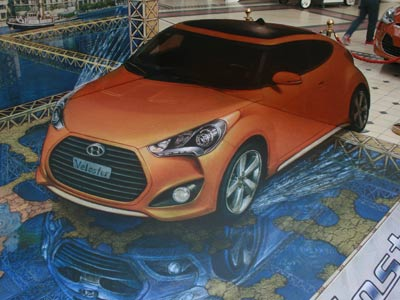 Veloster in 3D art form