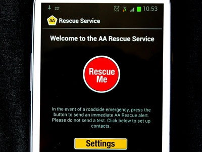 The AA Rescue app