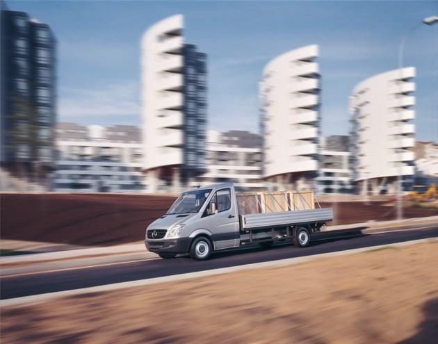 The existing Mercedes Sprinter bakkie.