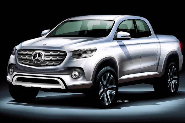 Styling exercise for the proposed new Mercedes-Benz bakkie.
