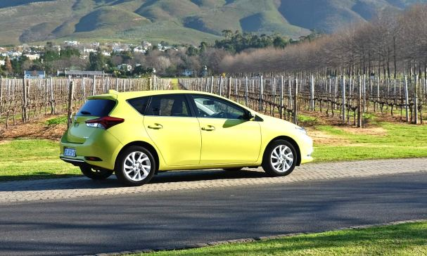 Toyota Auris XR at Lourensford Estate.