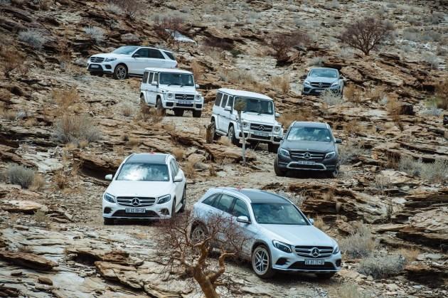 The Mercedes-Benz SUV range. (Quickpic)