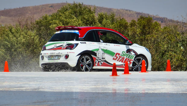 Opel Adam S on the skid pan at Gerotek